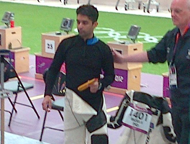 Abhinav Bindra after failing to qualify for final