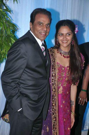 Dharmendra and Ahana Deol