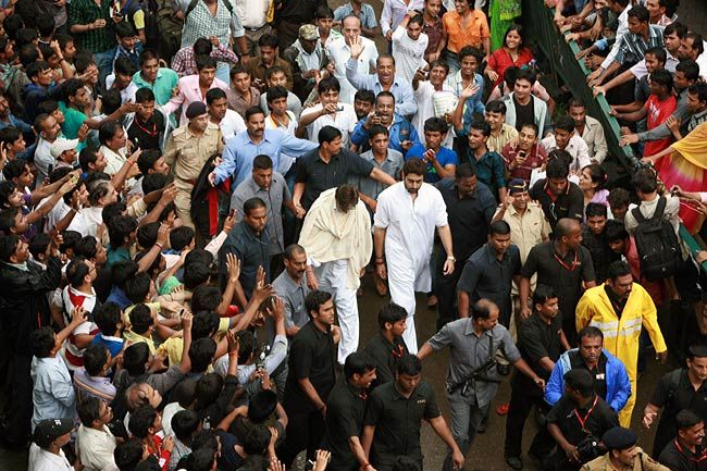 Funeral procession of Rajesh Khanna