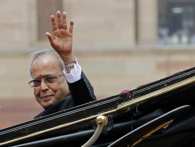 Pranab Mukherjee addresses the gathering
