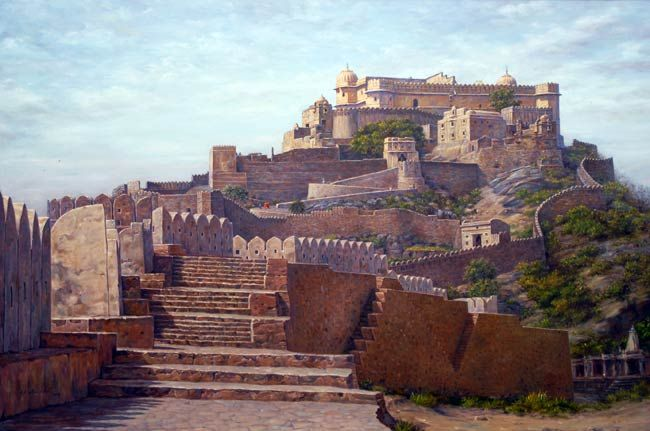 Kumbalgarh fort painting