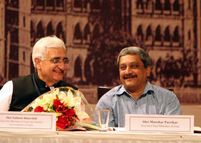 Salman Khurshid with Manohar Parikkar