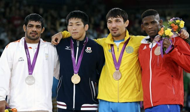 Olympic medalists being honoured