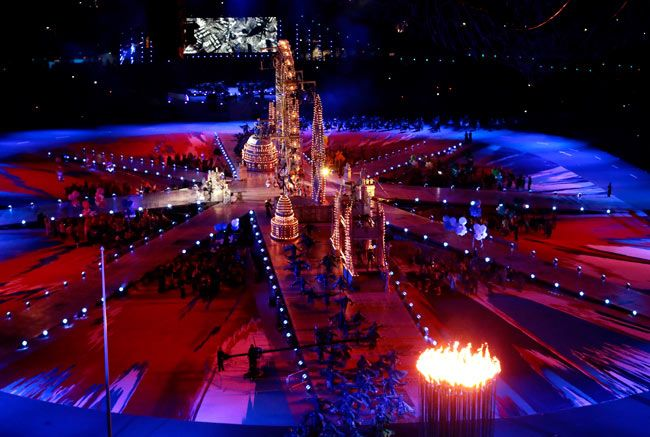 A view from the London Olympics closing ceremony