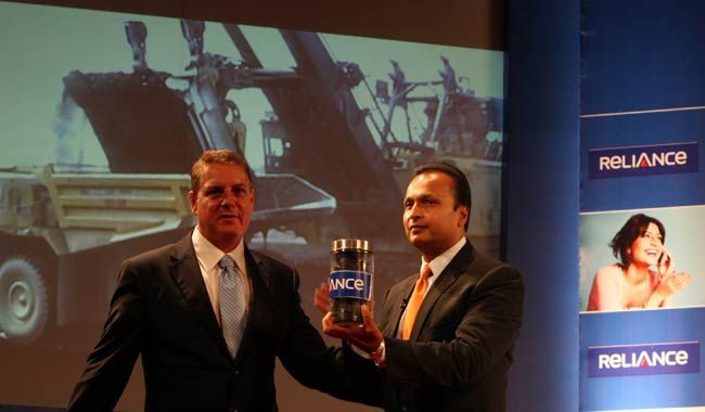 Anil Ambani at Reliance Power AGM in Mumbai