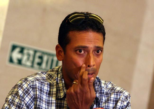 Mahesh Bhupati during a press conference.