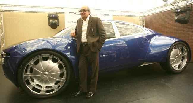 Car design guru Dilip Chhabria with his baby