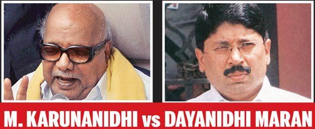 M Karunanidhi and Dayanidhi Maran
