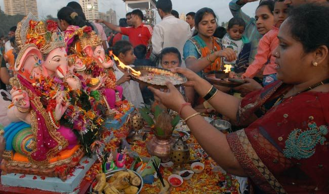 Lord Ganesha and Gauri
