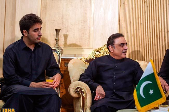 Bilawal Bhutto and Asif Ali Zardari