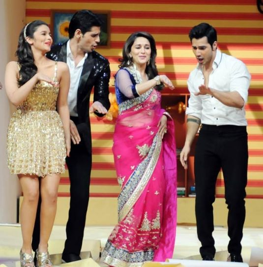 Siddharth Malhotra, Alia Bhatt, Varun Dhawan and Madhuri Dixit
