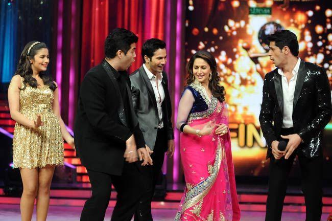 Siddharth Malhotra, Alia Bhatt, Varun Dhawan, Karan Johar and Madhuri Dixit