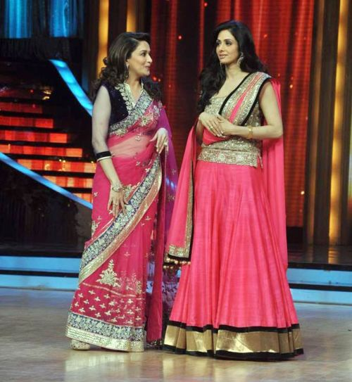 Sridevi and Madhuri Dixit