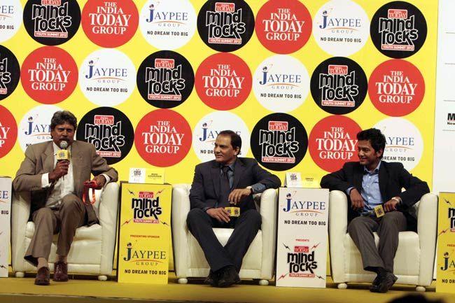 Kapil Dev, Mohammad Azharuddin and Unmukt Chand