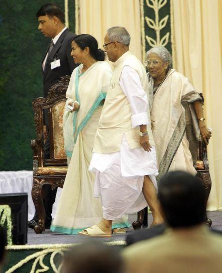 Mamata Banerjee & Pranab Mukherjee