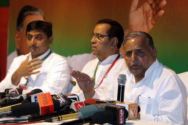 Mulayam Singh Yadav at SP's national executive meet in West Bengal