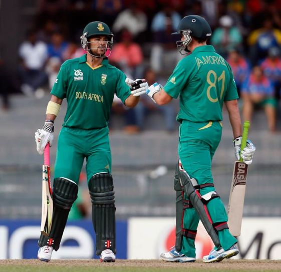 Jean-Paul Duminy (left) and Albie Morkel