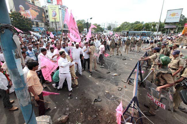 Telangana march