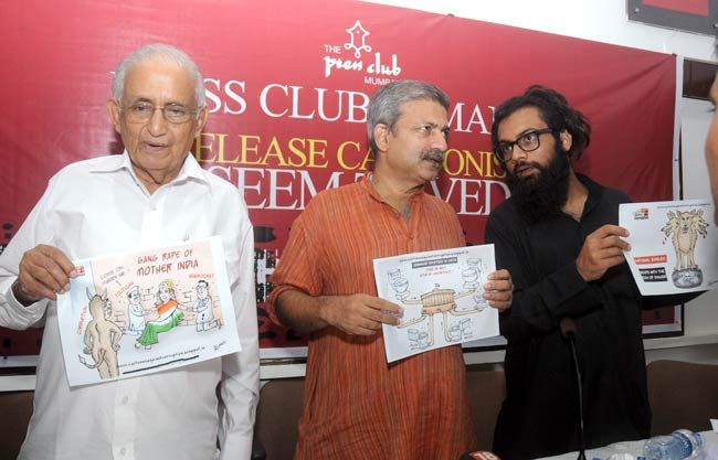 (From left) Justice Hosbet Suresh (retd), Mayank Gandhi and Alok Dikshit