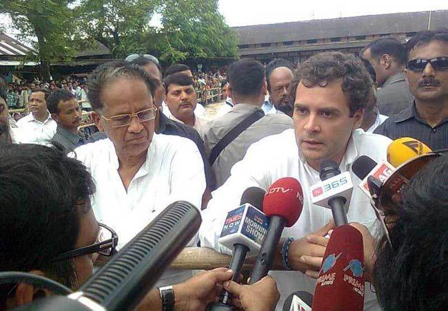 Rahul Gandhi visits riot-hit areas of Assam