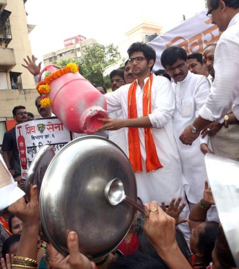 Shiv Sena rally in Mumbai, Aditya Thackeray