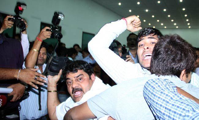 Congress worker Jagdish Sharma, IAC press conference, Delhi