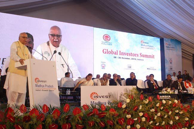 L K Advani, Global Investors Summit 2012