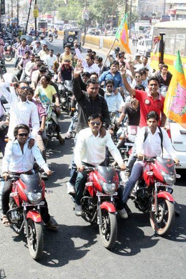 BJP youth wing bike rally in Bhopal