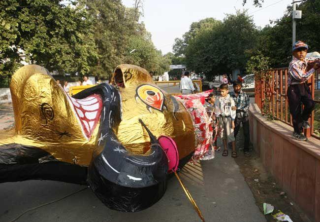 Ravana's effigy in New Delhi