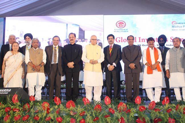 Subrata Roy, L K Advani, Kumar Mangalam Birla, Shivraj Singh Chouhan, Global Investors Summit 2012, Indore