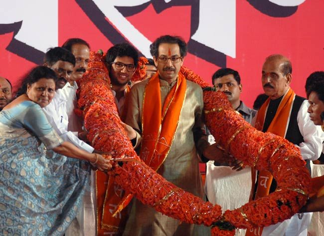 Uddhav Thackeray and his son Aditya Thackeray