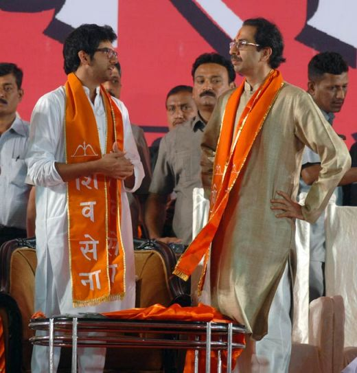 Uddhav Thackeray, Aditya Thackeray, Shiv Sena