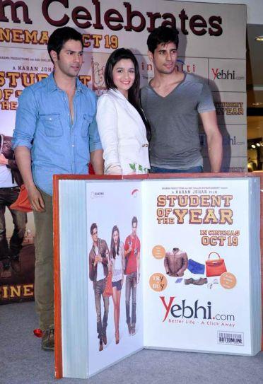 Varun Dhawan, Alia Bhatt and Sidharth Malhotra