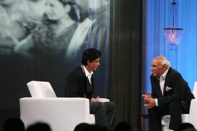 (Left to right) Shah Rukh Khan and Yash Chopra