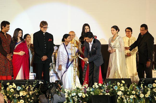 Amitabh Bachchan, Shah Rukh Khan, Mamata Banerjee, Kolkata International Film Festival
