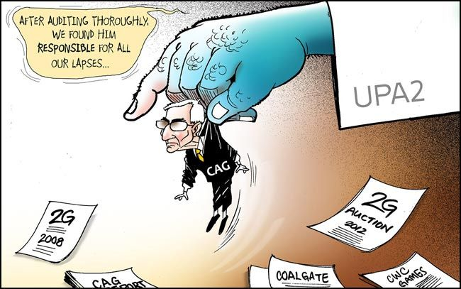 India Today cartoonist Narsim's take on 2G-CAG-UPA imbroglio