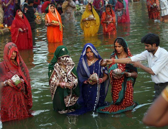 Women offer prayers
