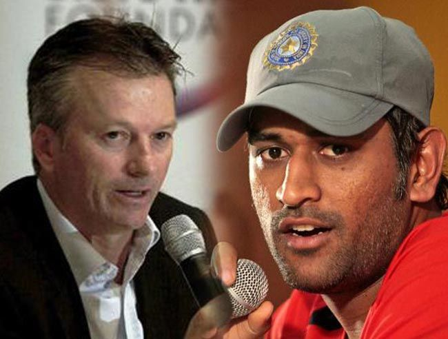 Steve Waugh and MS Dhoni