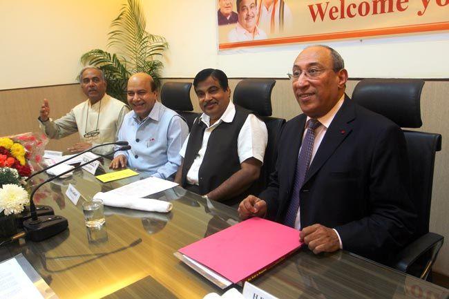 Arab envoys, BJP President Nitin Gadkari, Larbi Reffouh