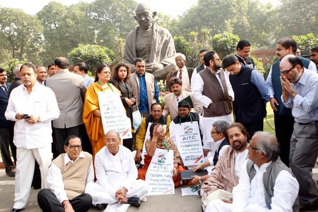 TMC leaders protesting