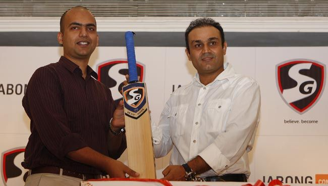 Virender Sehwag (right)