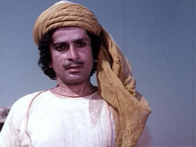 Shashi Kapoor in movie still Junoon.