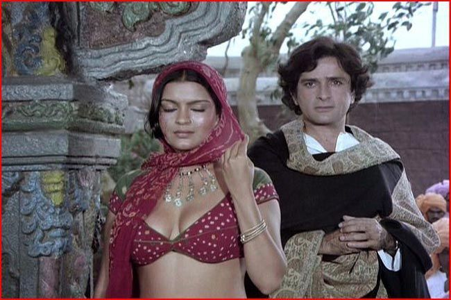 Shashi Kapoor and Zeenat Aman
