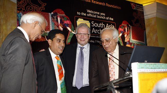 Kapil Sibal (right)