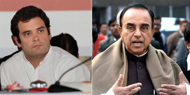 Rahul Gandhi and Subramanian Swamy
