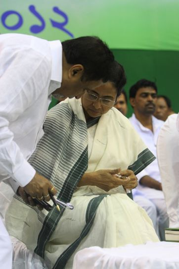 TMC leadrs and Mamata Banerjee