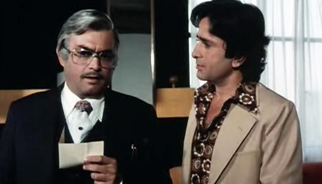 Sanjeev Kumar and Shashi Kapoor in Trishul.