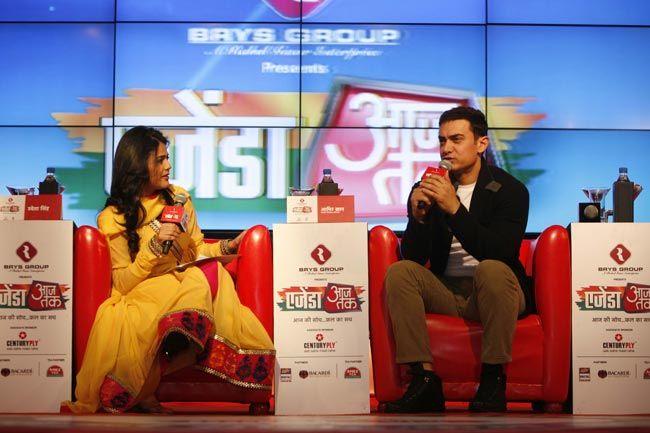Sweta Singh and Aamir Khan