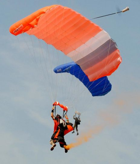 An Indian Army paratrooper