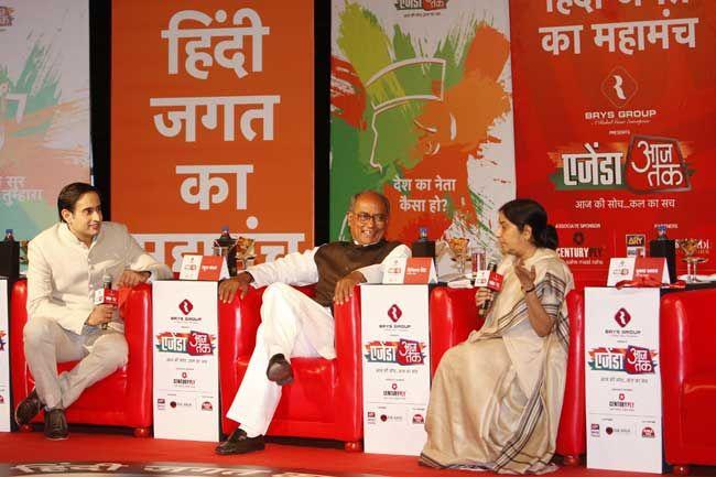 Rahul Kanwal, Digvijaya Singh and Sushma Swaraj
